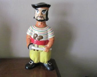 Vintage Pirate Liquor Decanter Made in Japan