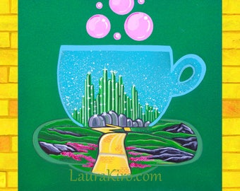 Canvas Print, Dorothy Painting, Emerald Painting, Good Witch Painting, Yellow Brick painting,