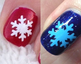 Snowflake Nail Stickers or Nail Vinyls
