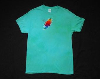 Grateful Dead Furthur Lightning Bolt Batik Medium Shirt #044