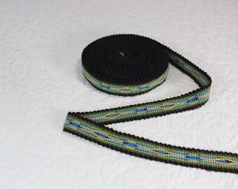 Woven Trim (6 yards), Woven Border, Cotton Ribbon, Grosgrain Ribbon, Dress Border, Border Trim, R197