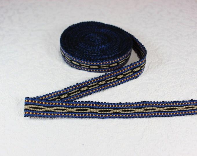 Woven Trim (6 yards), Woven Border, Cotton Ribbon, Grosgrain Ribbon, Dress Border, Border Trim, R148