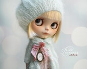 Blythe Ooak Set MARZIPAN By Odd Princess Atelier, Jacket, Beret, Hand Knitted Collection