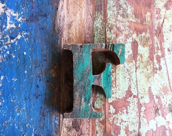"""Beach Decor Wooden LETTER """"F"""" Vintage Style Nautical by SEASTYLE"""