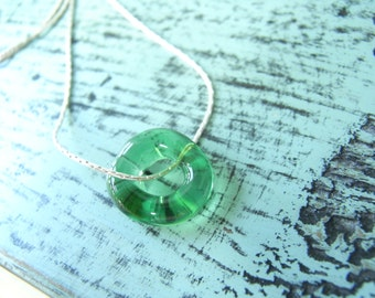 beach wedding gift Green ocean Necklace, Necklace green Glass, Bridesmaid gift idea, ocean jewelry, glass beads necklace