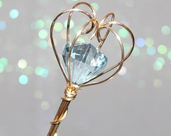Jewel Scepter aquamarine and gold