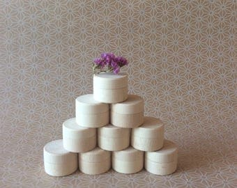 Tiny wooden boxes / set of 10 / small wood container / wedding ring box