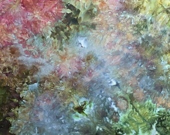 Hand Dyed, Ice Dyed Fabric, Jaded Aura, Fat Quarter (MB) #2
