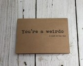 Funny valentine card, funny card, blank card, kraft card, A7, kraft card with envelope, Naughty Notes