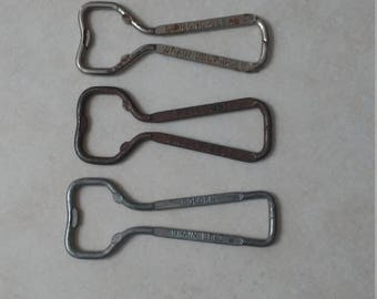 3 Grain Belt Vintage Bottle Openers Diamond Clean Friendly Golden