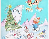 Rudolph and friends print
