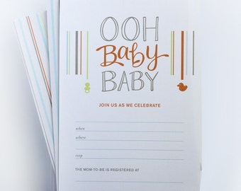 Ooh Baby Fill-In Baby Shower Invitations