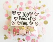 Confetti, blush and gold confetti, cutest confetti ever, pink and gold confetti, blush and gold party, pink and gold wedding, pink wedding