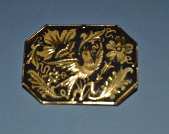 Beautiful damascene brooch