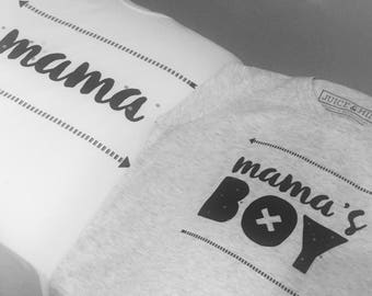 Mama's Boy (Mom and son matching t-shirts)