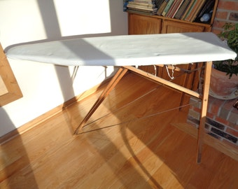 FREE DELIVERY WITHIN A 30 Mile Radius in Chicago, A Great  Rustic Primitive Wooden Ironing Board with wonderful well developed patina