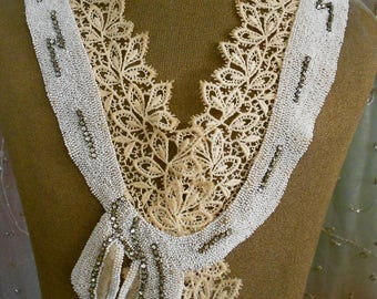 1920's Tiny Seed Beaded Collar