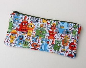 Robots Cosmetics / Make up Bag & Pencil Case
