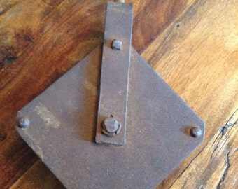 Pulley Antique Large Rusty Patina
