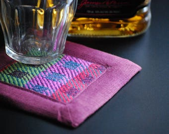 Handwoven Coasters or Mug Mats- Set of Four (4) - Wine