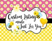 Custom listing for Jamie Davis