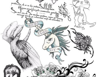 LADY GAGA Temporary Tattoo Set