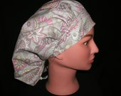 hummingbird bouffant scrub hat
