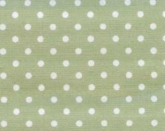 Fat Quarter -- Kiyohara Sage Green with White small Dot --100% Cotton Fabric