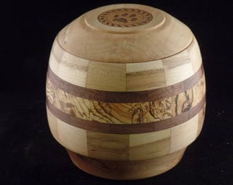 Spalted Maple Pet Urn # 1055-70