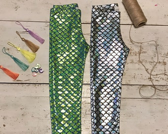 Little Mermaid Leggings-Baby Mermaid Outfit-Magical Mermaid Scales-Scale Leggings-Mermaid Gift-Mermaid Leggings-Mermaid Pants-Mermaid Party