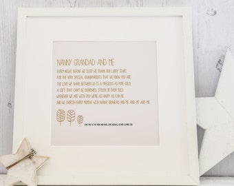 Personalised Grandparents Print with verse
