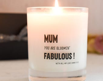 Personalised Mothers Day Scented Candle, Mothers Day Gift, Scented Candle, Gift for Mum, Birthday Gift for Her,