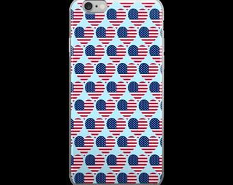 Patriotic Flag Heart IPhone Case for 5/5S 6 6S 7 7Plus