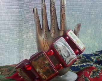 Shiva Wooden Devotional Bracelet.