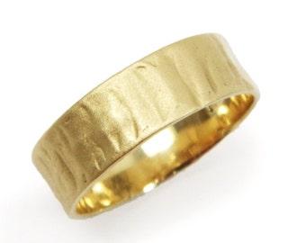 Textured matte wedding band- 14k yellow gold  .  gold wedding band for men women, yellow gold, (gr-9396-1507)