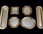 Vintage GOLD Mirrored FRAMES - Assemblage Wall Decor - Photography - French Farmhouse - Retro Boho - Old World - Beach House - Art Work