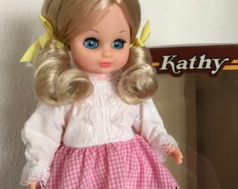 Vintage doll Kathy with box