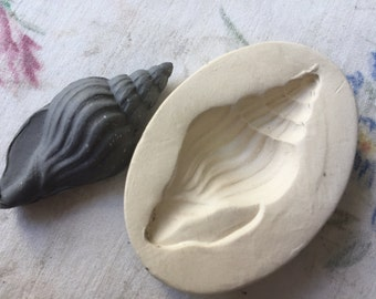 Clay Seashell Stamp Pottery Press Mold Relief or Sprig Mold Bisque Clay Sea Shell Stamp for Decoration and Texture