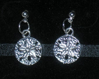 Sand Dollar Earrings with Surgical Steel Posts