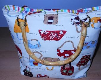 Bamboo Handled Handbag/Purse
