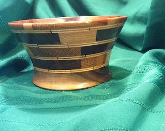 Scrap bowl wood turned hand made OOAK ShopDrennan