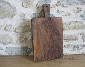 antique French cutting board gorgeous primitive chunky wooden chopping block