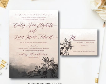 McKay Thornberry Printed Wedding Invitations | Floral and Watercolor Invitation | Printed or Printable by Darby Cards Collective