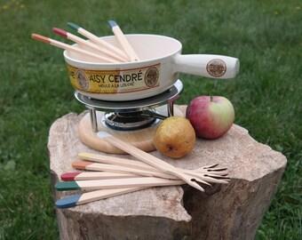 Wooden cheese fondue forks - Chocolate fondue forks - Fondue forks set - Colored fondue forks