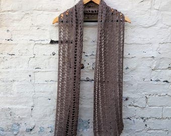 Fine Lightweight Linen Scarf Shawl - Made to Order