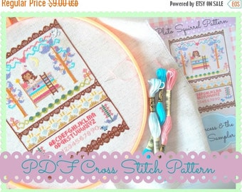 HALF OFF STOCK Up Sale Fairy Tales Cross Stitch Pattern - The Princess and the Pea - Kawaii Cross Stitch Pdf