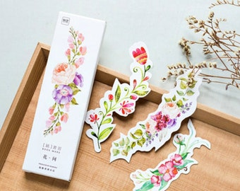 Flower Cut Out Bookmarks Paper Ephemera Bookmarks