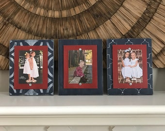 Unique Christmas Gift, Distressed Picture Frames, Set of Frames, Wall Collage, 5x7 Picture Frames, 5x7 Frames, Wood Plank Frames