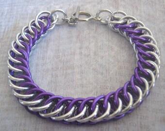 Denise Bracelet Chain Maille Aluminum Jewelry