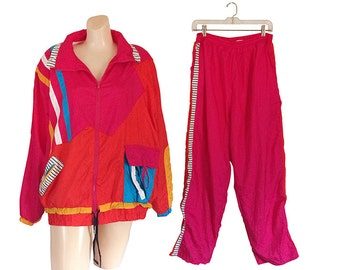 Windbreaker Suit Plus Size Clothing Windbreaker Pants 90s Windbreaker Jacket Retro Windbreaker Wind Breaker Wind Suit Neon Windbreaker 80s